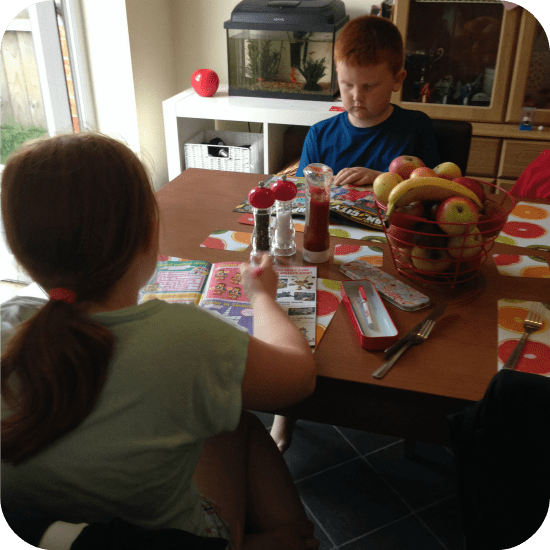 Reading before tea together