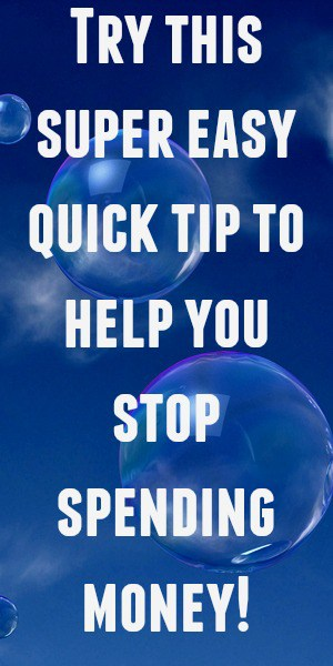 Try this super easy quick tip to help you stop spending money it really works!