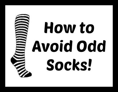 how to avoid odd socks