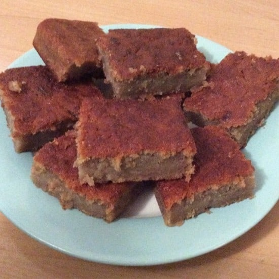 Apple and banana squares