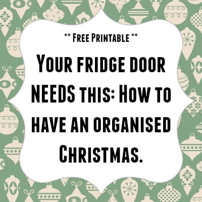 Free organised Christmas printable