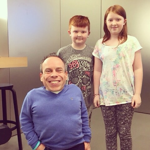 Meeting the lovely Warwick Davis at the Metro Centre.
