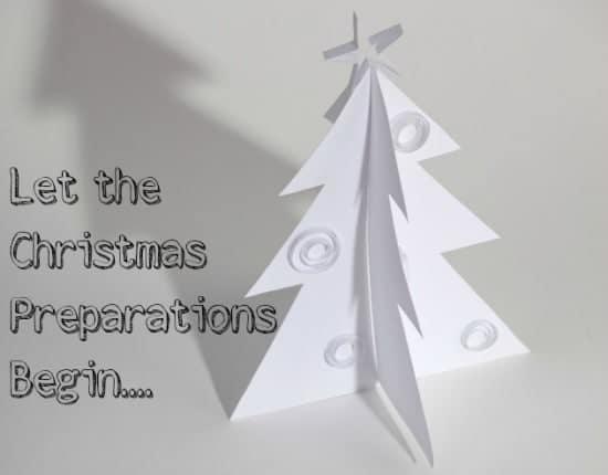 start preparing for Christmas