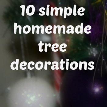 10 simple homemade tree decorations
