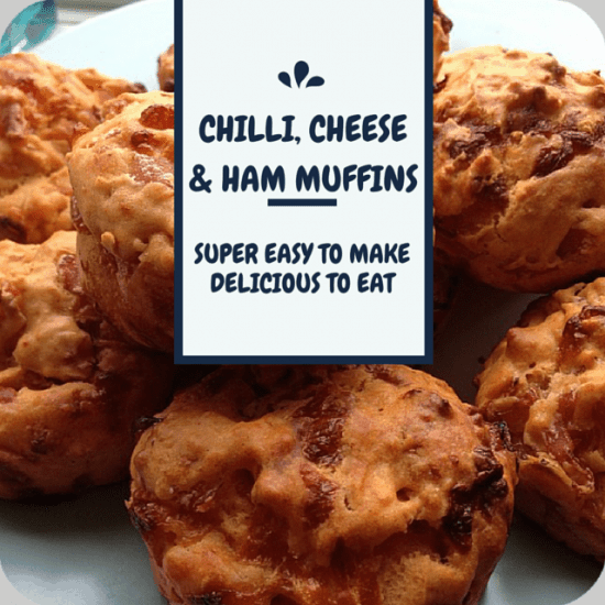 Chilli, Cheese and Ham Muffins