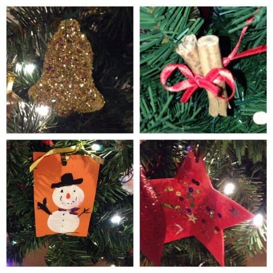 Homemade tree decorations
