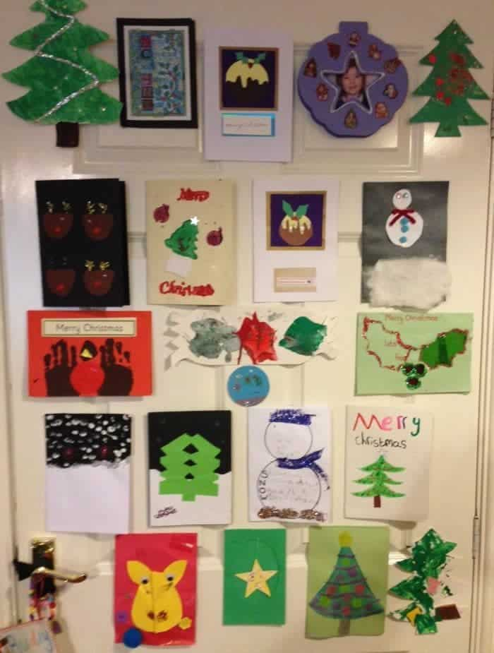 What do you do with all of your children's Christmas cards from over the years Here's what we do with ours....