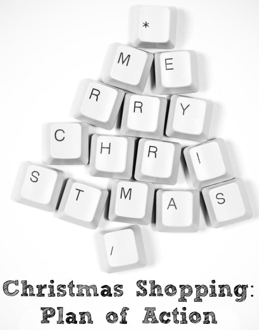 christmas shopping plan of action