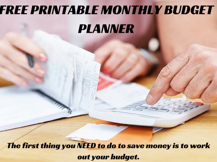 free downloadable monthly budget planner