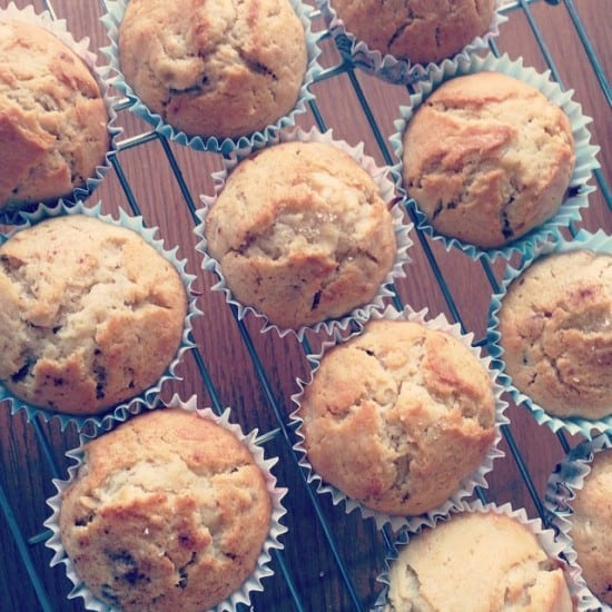 easy muffin recipe - banana and peanut butter muffins