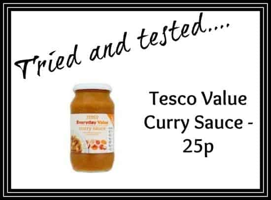 Tried And Tested Tesco Value Curry Sauce The Diary