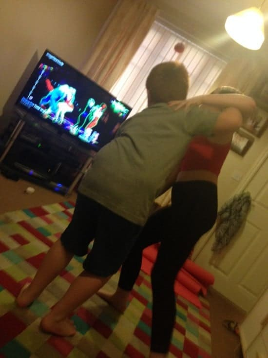 YouTube isn't just for watching Minecraft videos - just type in Just Dance and you get all the Just Dance songs with their moves  so you can dance along together.