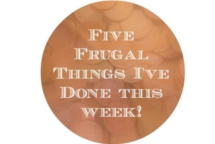 Five Frugal things I've done this week to save money {13th March 2015}….