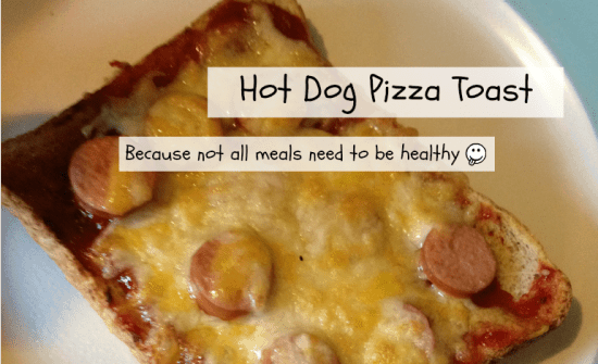 hot dog pizza toast
