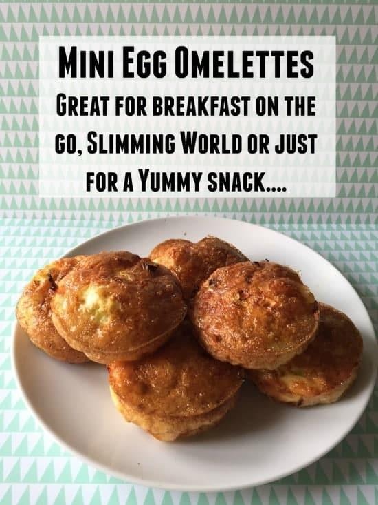 mini egg omelettes great for breakfast on the go
