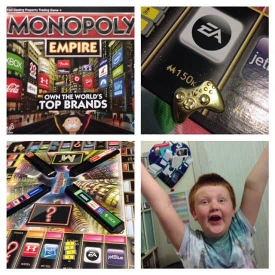 We love Monopoly empire because it's a quicker version of the old version that I loved when I was younger.  It was always my favourite game but it's too slow for the kids so this is our compromise.