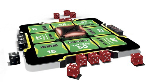 We LOVE the new version of Yahtzee - it's easy to set up, easy to understand and is a lot of fun.  I'm sure we bought it at Tesco for under a tenner which is great value for all the fun we've had!