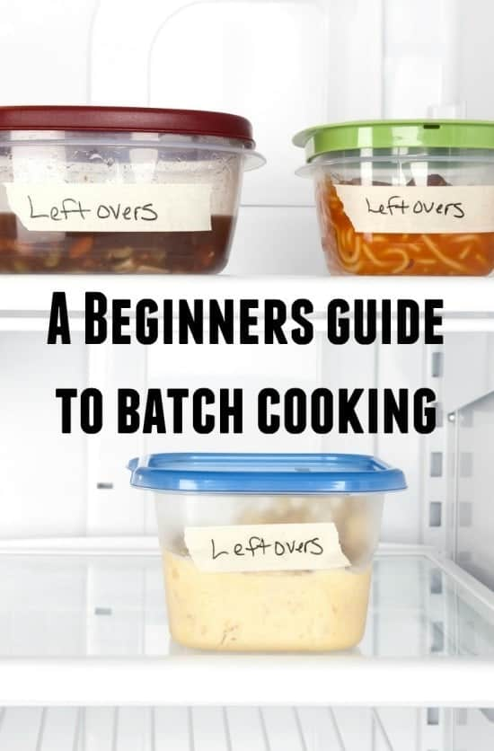 A Beginners guide to batch cooking