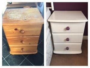 bedside cabinets upcycle