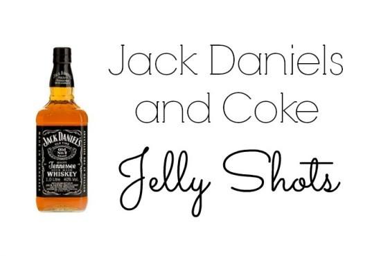 Jack Daniels and coke jelly shots