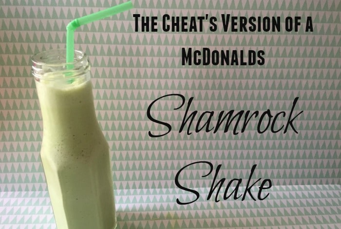 The cheat's version of McDonalds Shamrock Shake….