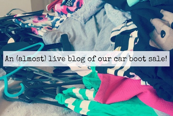 An (almost) live blog of our car boot salle
