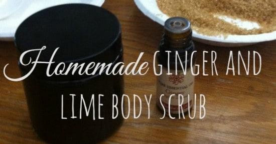 IMG_3488Homemade ginger and lime body scrub