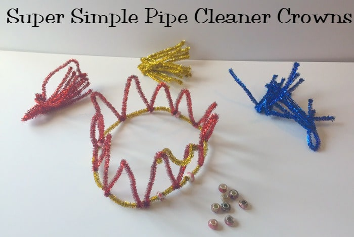 Super Simple Pipe Cleaner Crowns
