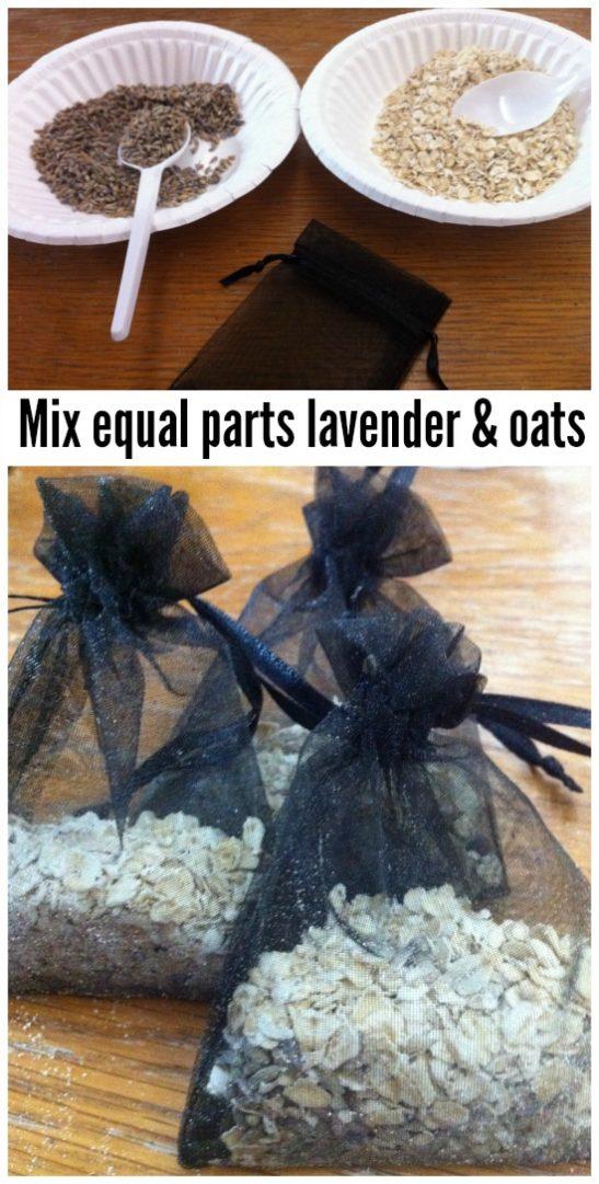 homemade lavender and oat bath soak