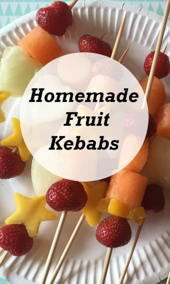 Homemade fruit kebabs - great for getting the kids in the kitchen and for encouraging the kids to eat more fruit.