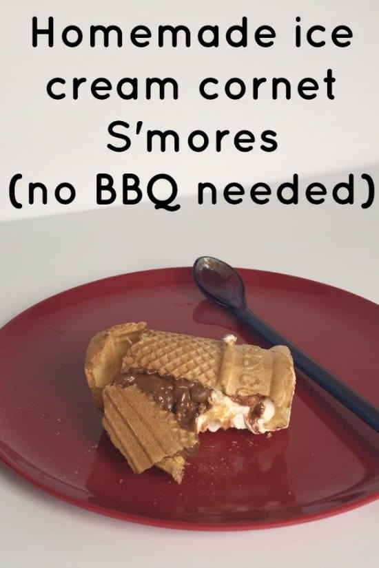 Homemade ice cream cornet S'mores (no BBQ needed)....  They're super easy to make and absolutely delicious to eat!