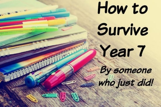 How to survive year 7 - by someone who just did.
