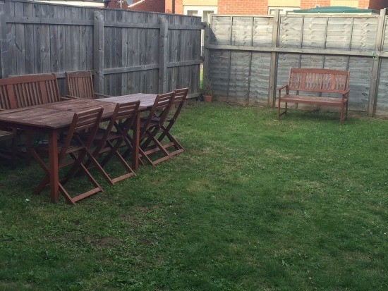 New garden table and chairs to go with our old set.