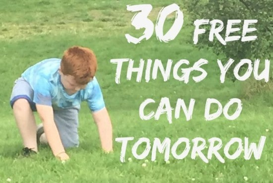 30 free things you can do tomorrow !