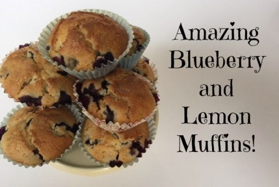 Amazing Blueberry and Lemon Muffins!