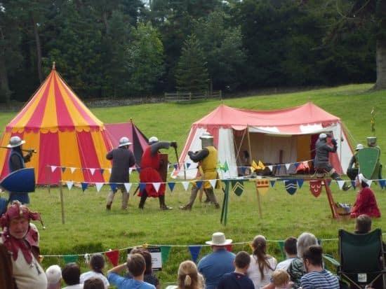 Belsay castle knights jousting
