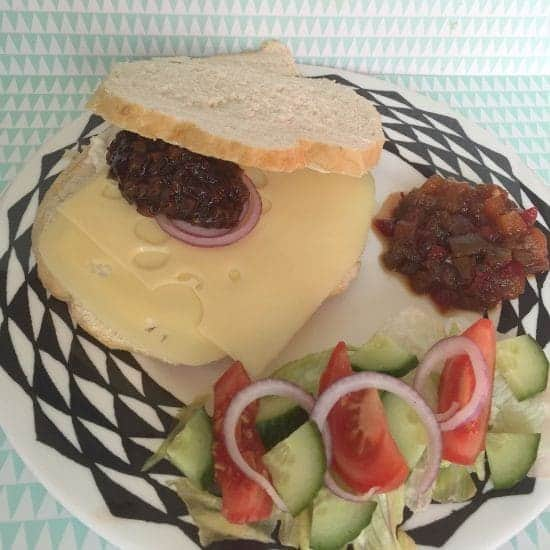 Classic Cheese & Pickle with salad