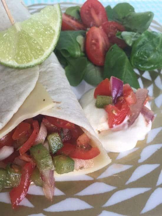 Delicious mexican cheese wrap