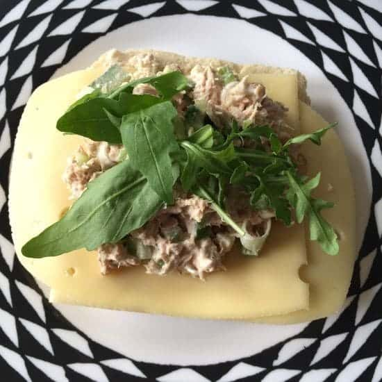 Gorgeous cheesey tuna crunch sandwich