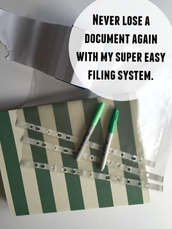 Never lose a document again with my super easy filing system!