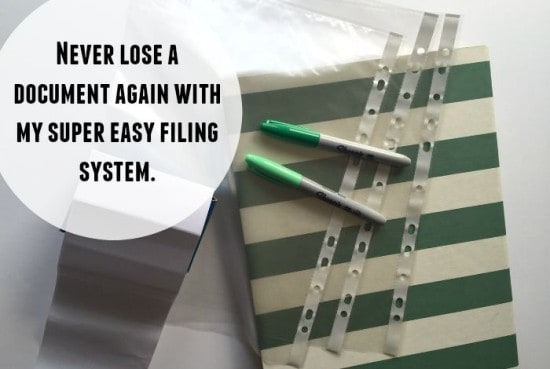 Never lose a document again with my super easy filing system....