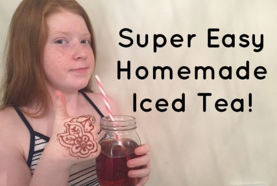 Super Easy Homemade Iced Tea!
