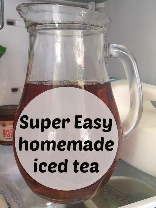 Super Easy Homemade iced tea