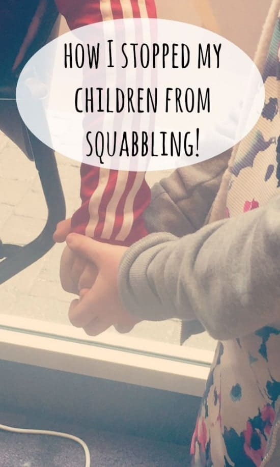 how I stopped my children from squabbling!
