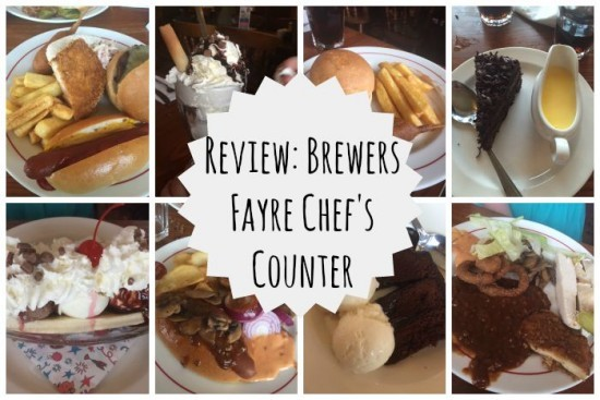 review Brewers Fayre Chef's counter