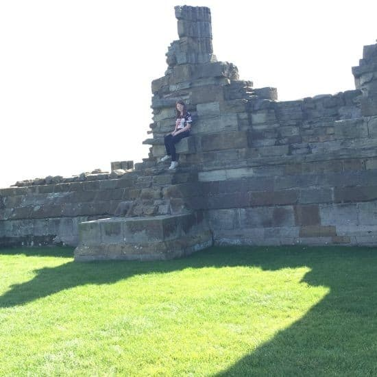 Whitby abbey relaxing