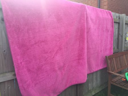 blanket over the fence
