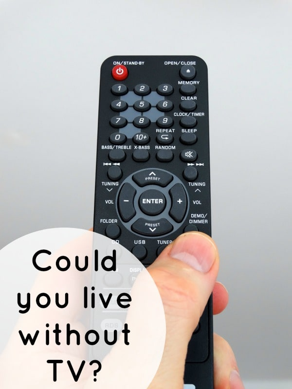 Could you live without TV