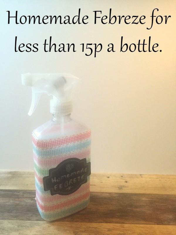 Homemade Febreze for less than 15p a bottle.
