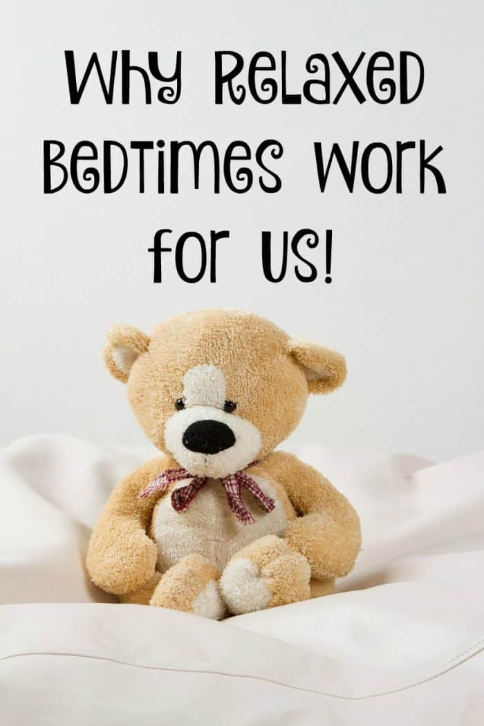 Why Relaxed Bedtimes work for us